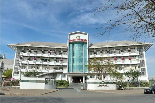"""Slogan của Bệnh viện tim Tâm Đức: """"Bệnh viện tim Tâm Đức - Chất lượng thế giới vì trái tim Việt Nam"""""""