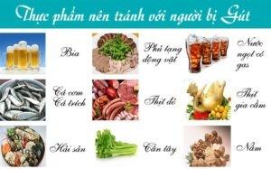 bệnh gout nên ăn gì