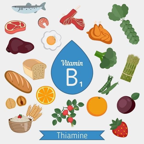Thiếu vitamin B1 gây ra các rối loạn trí nhớ