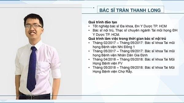 Bác sĩ Trần Thanh Long