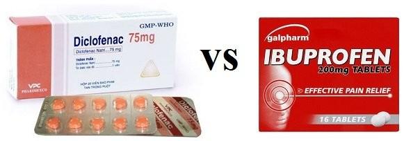 Thuốc Diclofenac và Ibuprofen