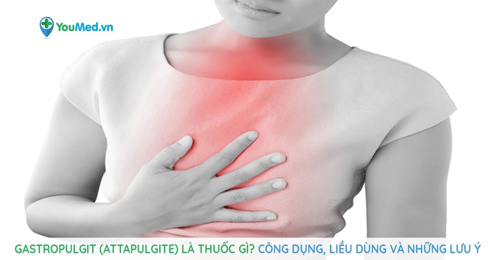 Gastropulgit (attapulgite) là thuốc gì? Công dụng, liều dùng và những lưu ý