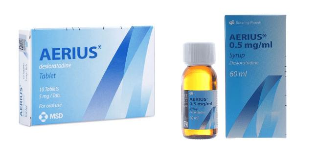Thuốc Aerius dị ứng