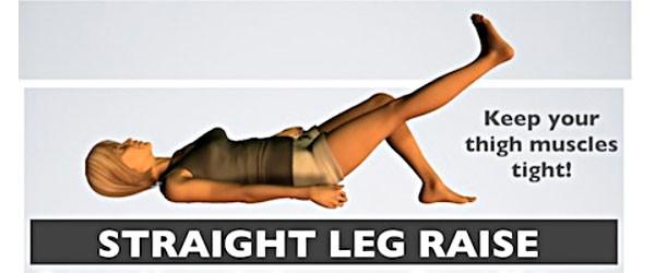 tập nâng chân để trị giãn dây chằng đầu gối