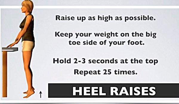 tập nhón chân để trị giãn dây chằng đầu gối