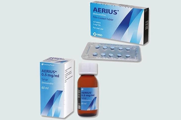 thuốc Aerius dạng viên nén và siro