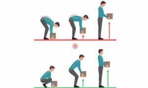 tư thế nâng vật nặng