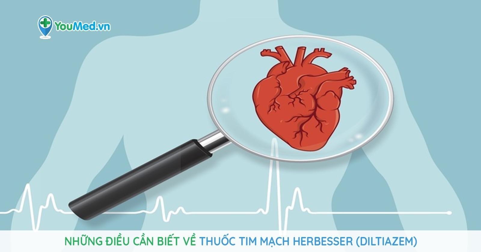 Những điều cần biết về thuốc  tim mạch Herbesser (diltiazem)