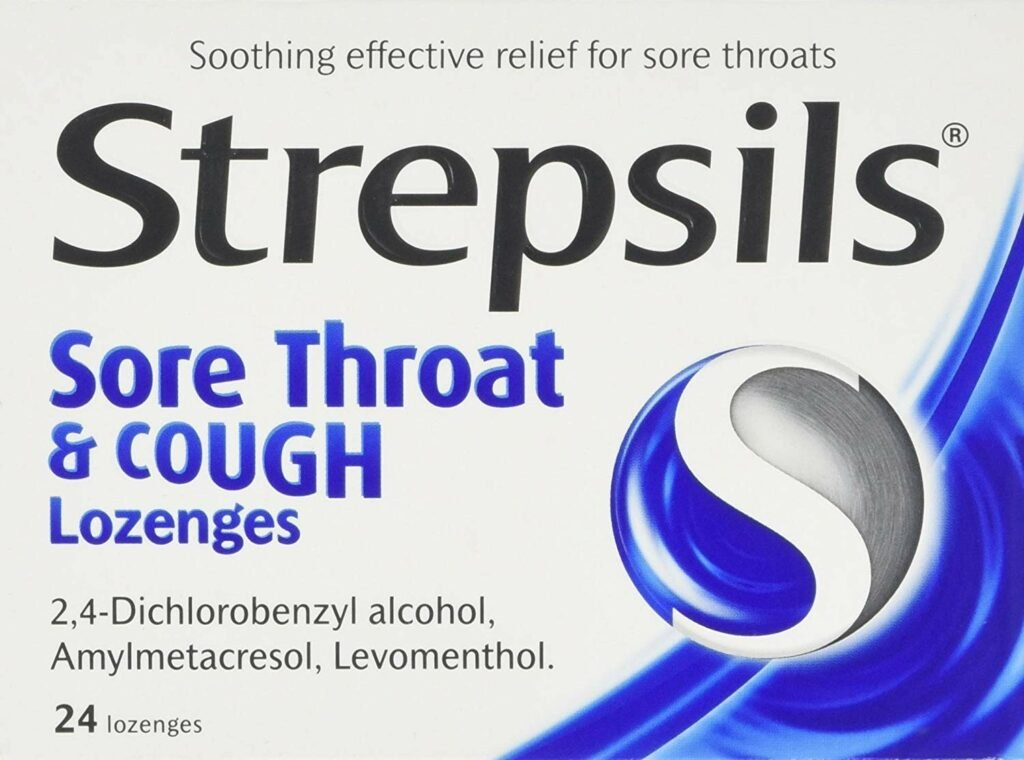 Viên ngậm Strepsils Sore Throat & Cough