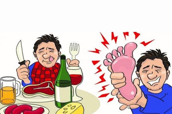 Ăn uống không hợp lý là nguyên nhân gây bệnh gout