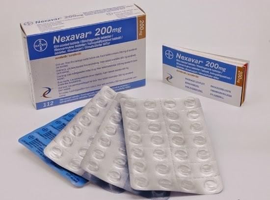 thuốc Nexavar 200mg dạng viên nén bao phim