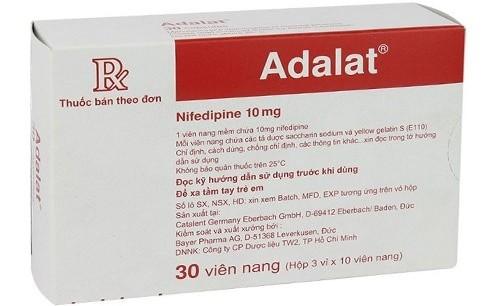 Thuốc nifedipin (Adalat)