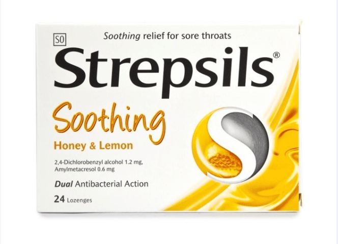 Viên ngậm Strepsils Soothing Honey & Lemon