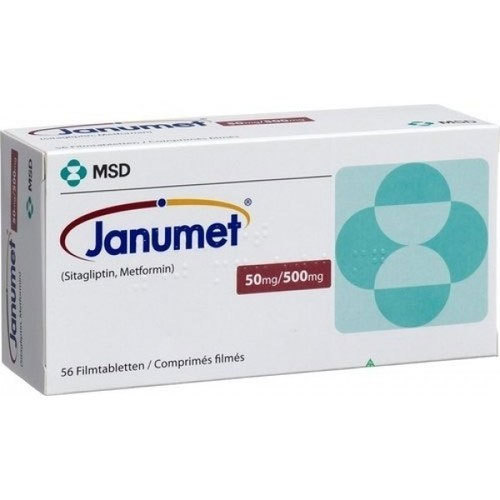 Thuốc Janumet (sitagliptin, metformin)