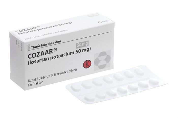 Thuốc điều trị tăng huyết áp Cozaar (losartan)