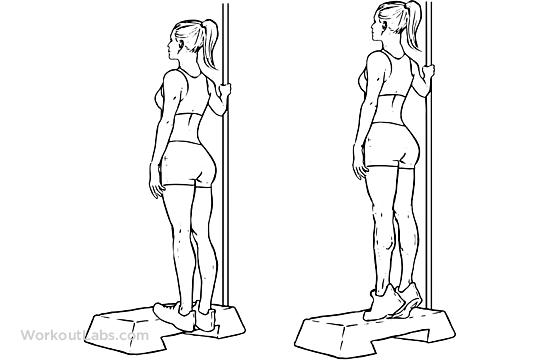 Hình ảnh minh họa bài tập nâng bắp chân cho bàn chân bẹt