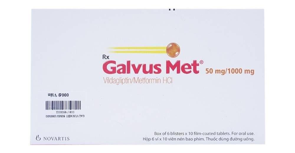 thuốc điều trị đái tháo đường Galvus Met (metformin/vildagliptin)