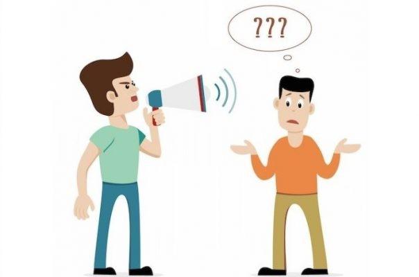 Người nghe kém thường phải yêu cầu người khác nói to, rõ hơn