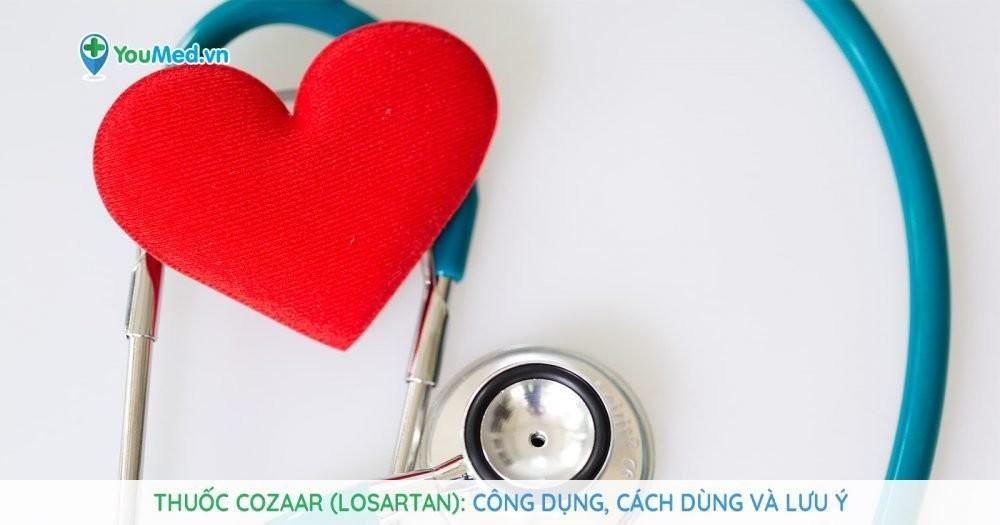 Thuốc Cozaar (losartan) có ưu điểm gì so với thuốc tim mạch khác?