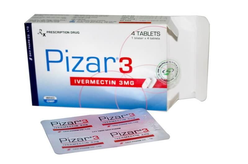 thuốc tẩy giun Pizar (ivermectin)