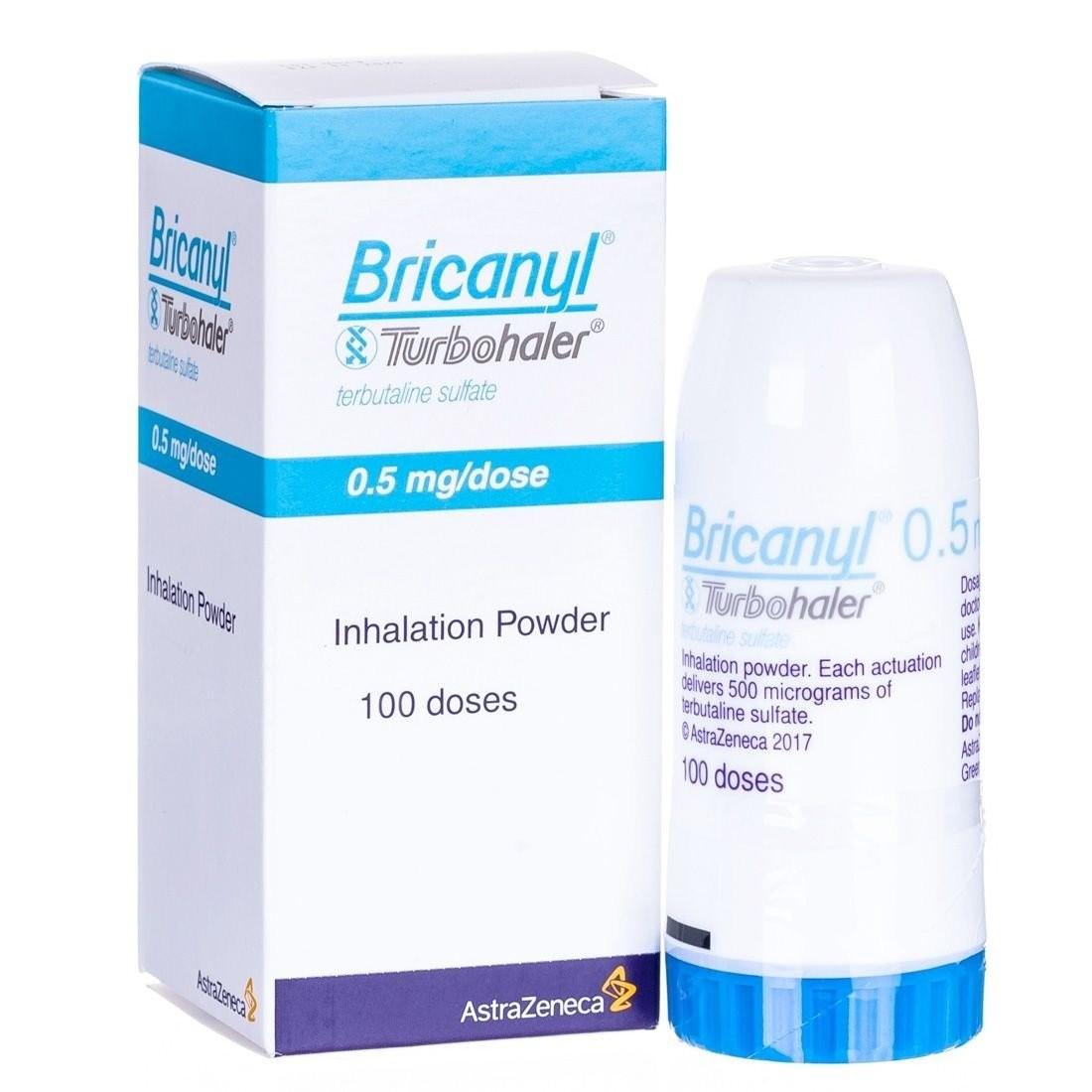 bình hít khô thuốc Bricanyl (terbutalin)