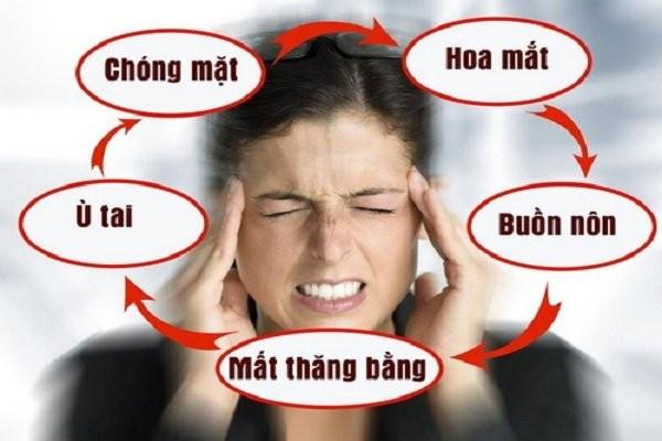 Các triệu chứng tại não