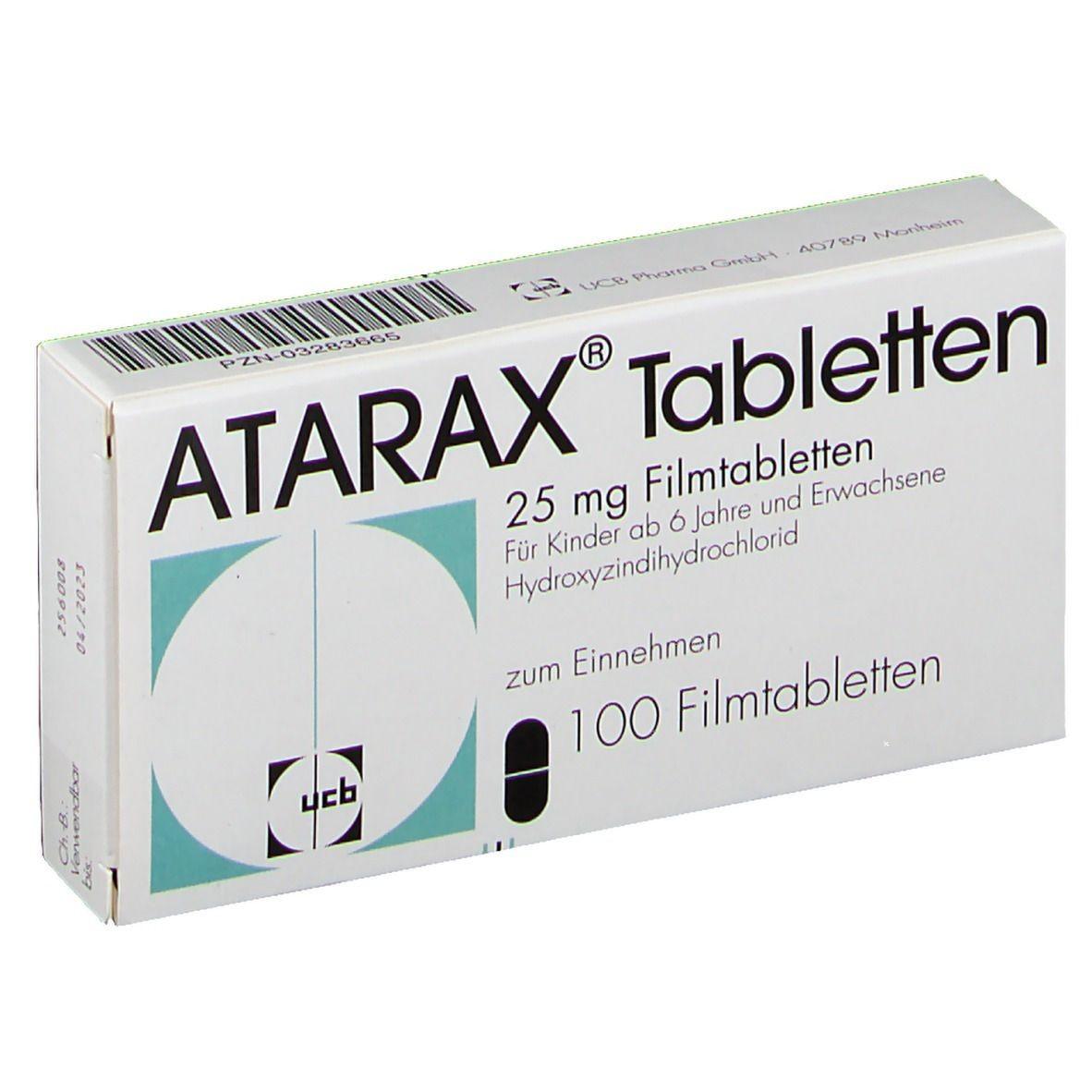Thuốc Atarax (hydroxyzin hydroclorid)