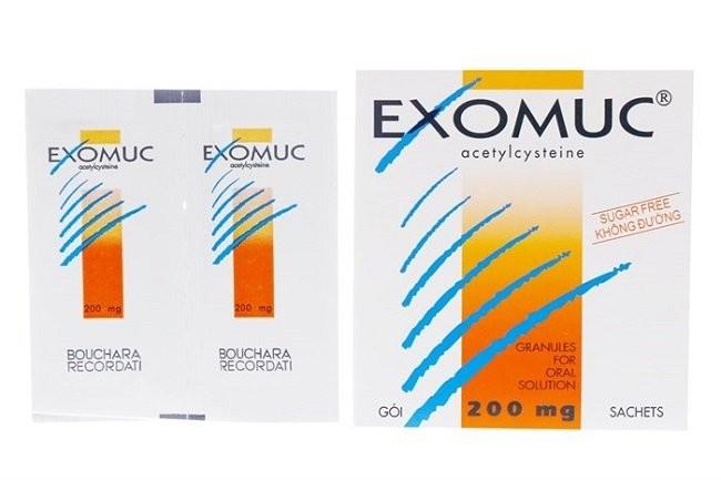 Thuốc loãng đàm, tiêu nhầy Exomuc (acetylcystein)
