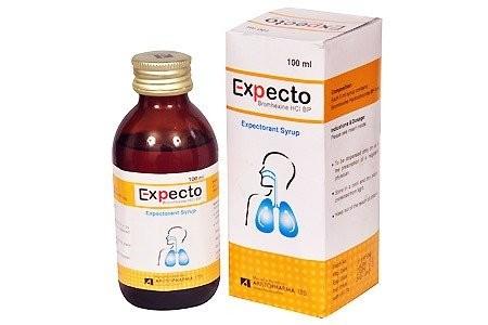 Thuốc siro Expecto (bromhexin)