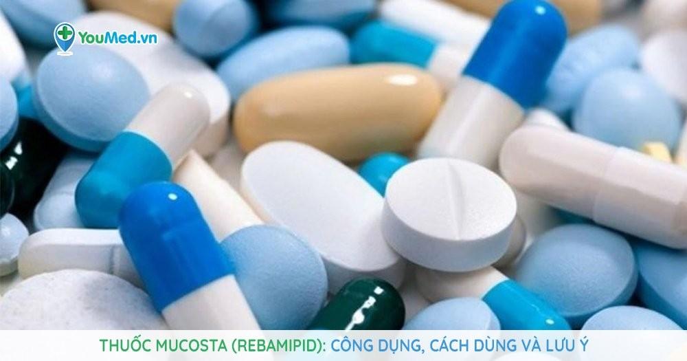 thuốc điều trị dạ dày Mucosta (Rebamipid)