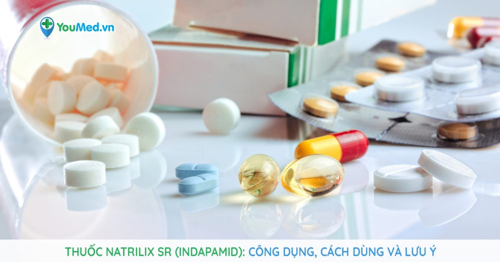 thuốc kiểm soát huyết áp Natrilix SR (indapamid)