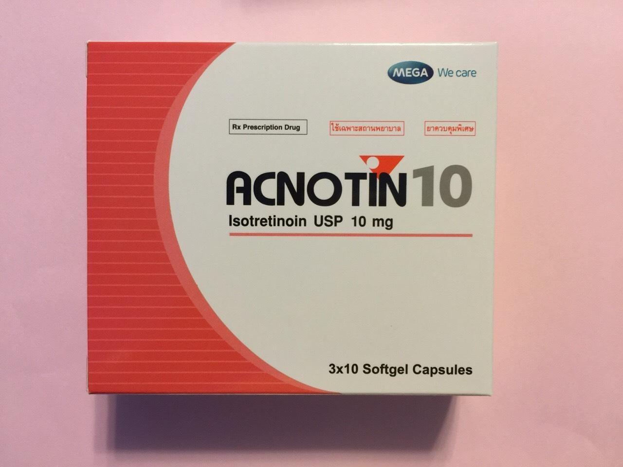 Thuốc trị mụn Acnotin (isotretionin)