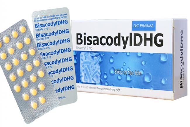 Thông tin về thuốc bisacodyl