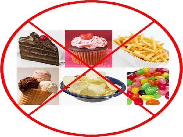 Hạn chế thức ăn nhiều thực phẩm ngọt khi mang thai