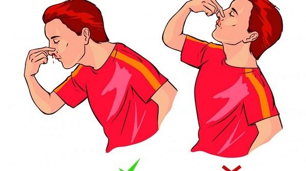 Cách cầm máu mũi
