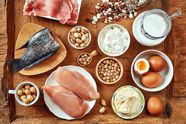 dinh dưỡng khi mang thai protein
