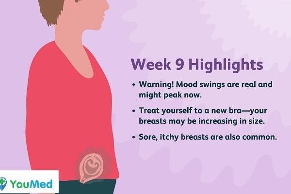Thai phụ mang thai tuần 9