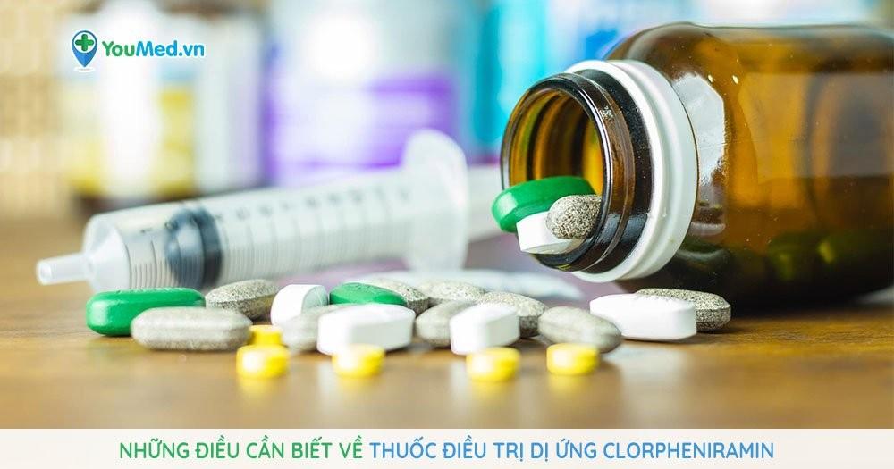 Thuốc điều trị dị ứng clorpheniramin