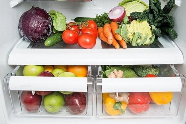 Bảo quản rau củ quả trong ngăn mát tủ lạnh