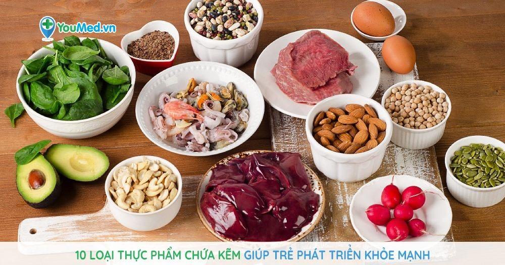10 loại thực phẩm chứa kẽm giúp trẻ phát triển khỏe mạnh