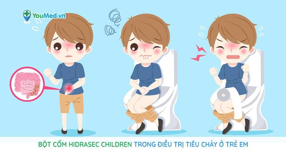 Bột cốm Hidrasec children trong điều trị tiêu chảy ở trẻ em