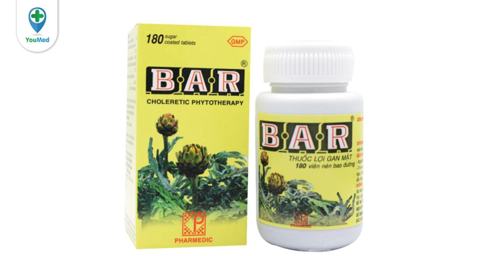 Bạn biết gì về thuốc lợi gan mật Bar?