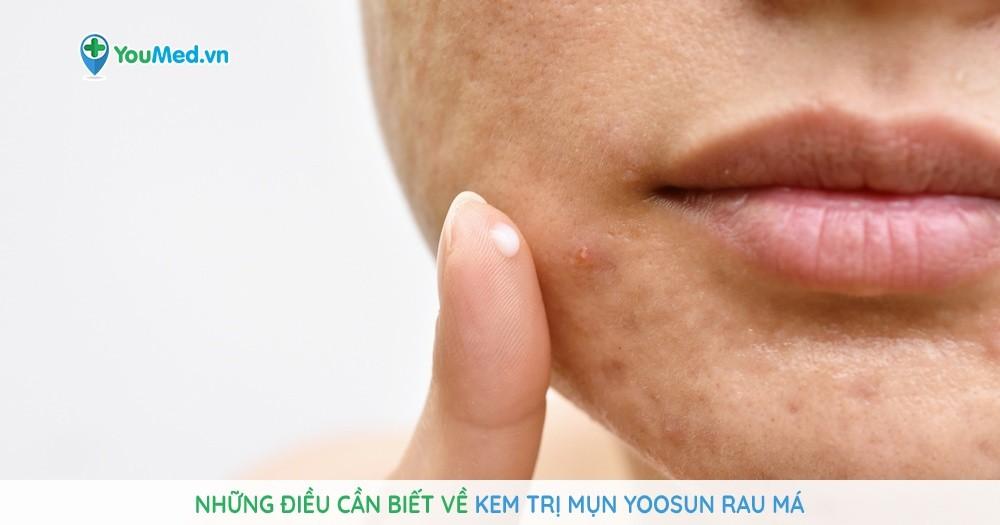 Những điều cần biết về kem trị mụn Yoosun Rau má