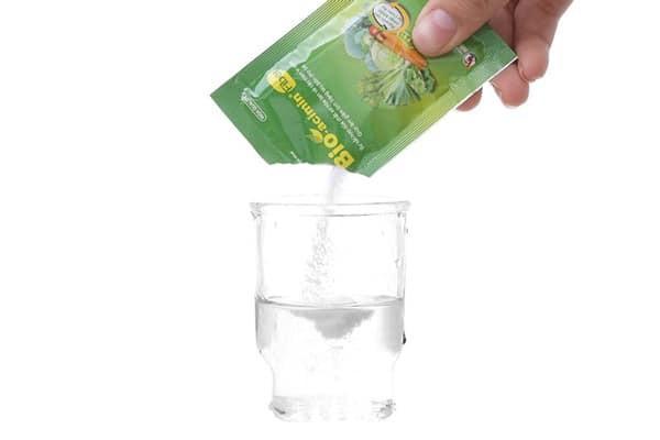 Pha Bio-acimin Fiber với nước nguội hoặc nước ấm
