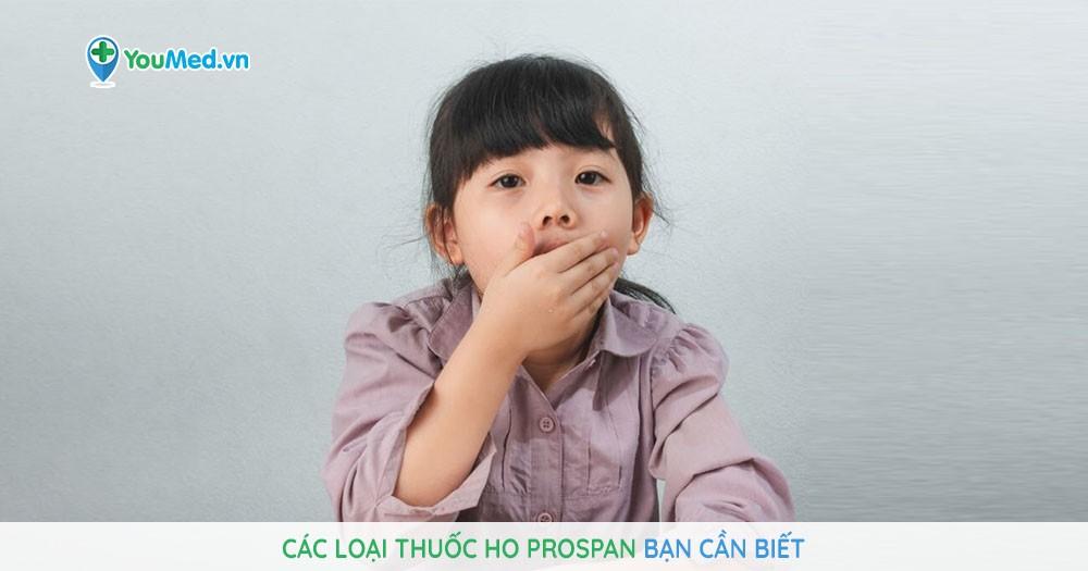 Các loại thuốc ho Prospan bạn cần biết