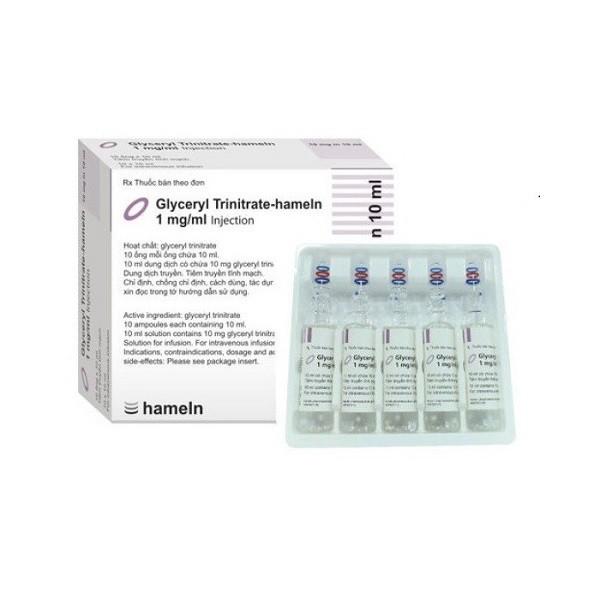 thuốc giãn mạch nitroglycerin