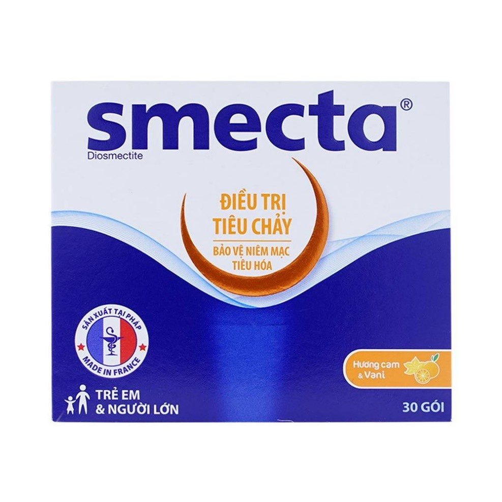 Thuốc tiêu chảy Smecta - Diosmectite 3g, Hộp 30 gói
