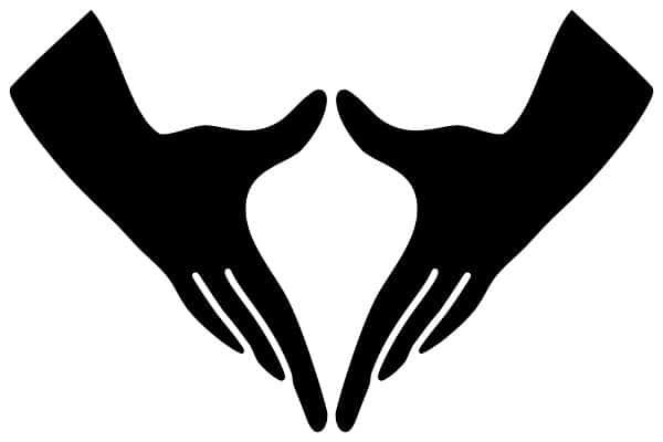 Tư thế Hand on Heart