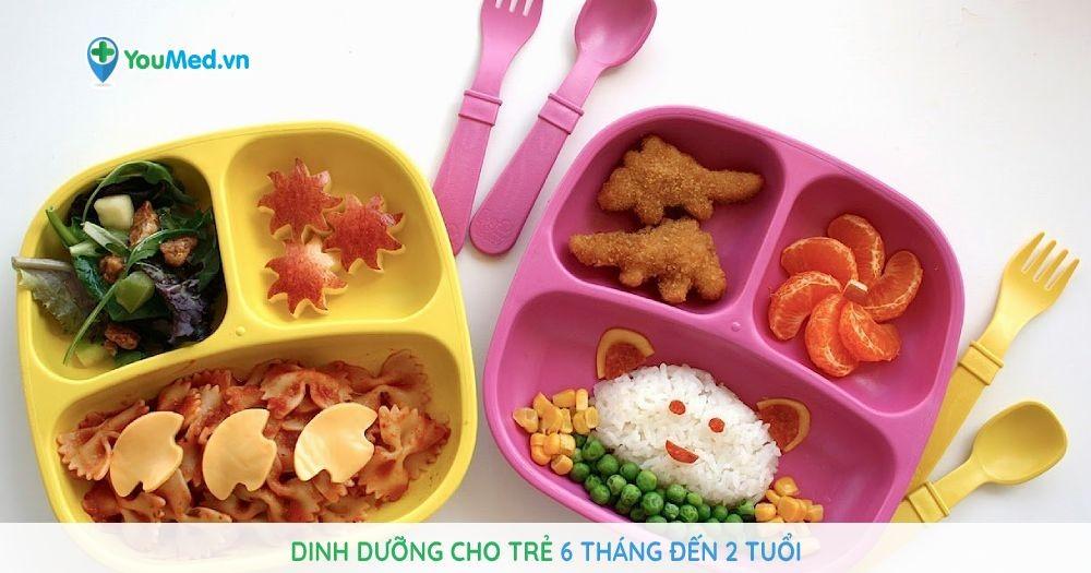 Dinh dưỡng cho trẻ 6 tháng đến 2 tuổi