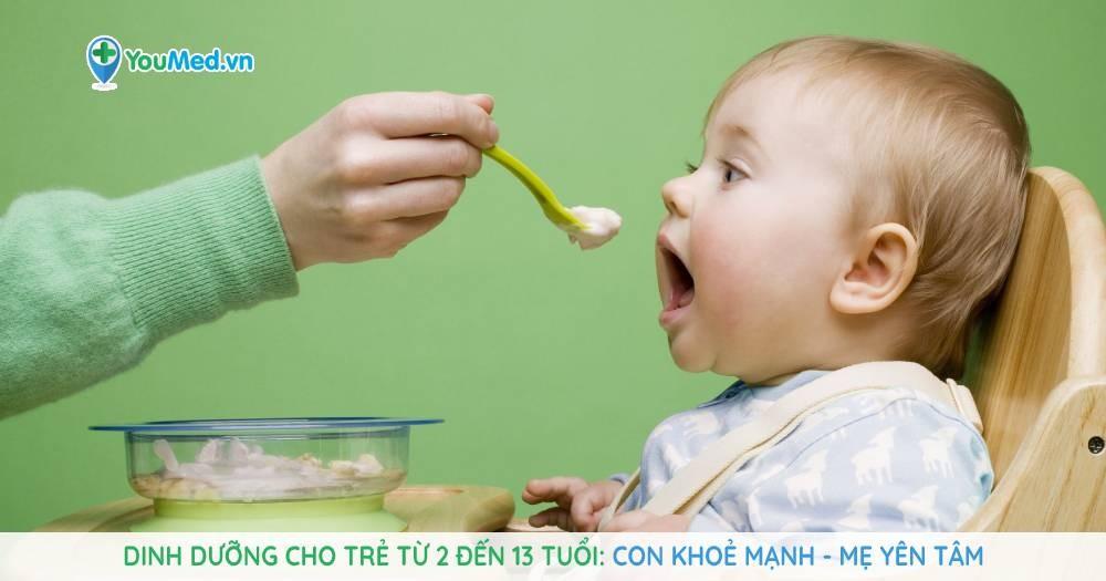 Dinh dưỡng cho trẻ từ 2 đến 13 tuổi: Con khoẻ mạnh – Mẹ yên tâm
